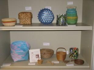 display of baskets