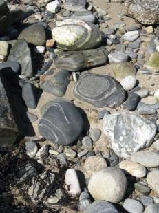 pebbles on Clifden beach