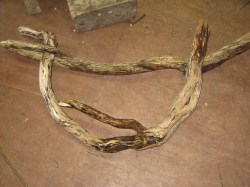 wood frame for willow basket