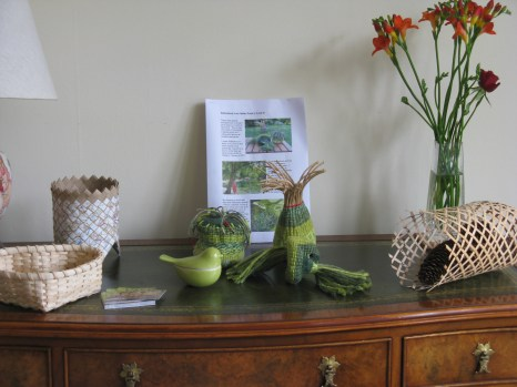 display of baskets
