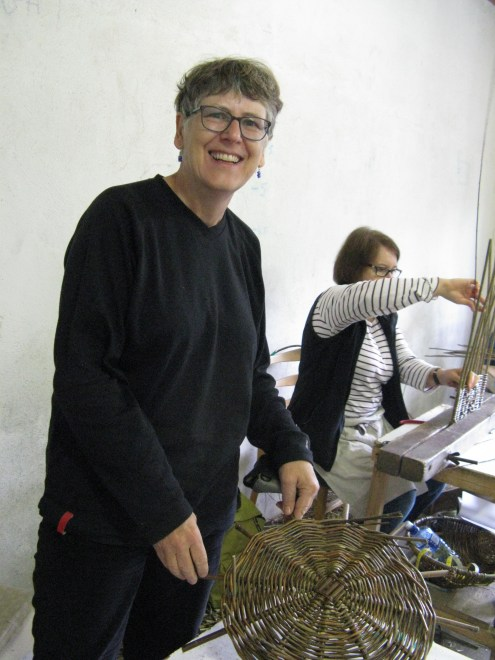 Sally Roach and willow base for log basket