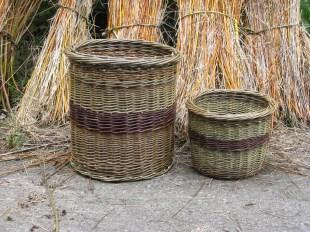 Willow log basket and kindling basket