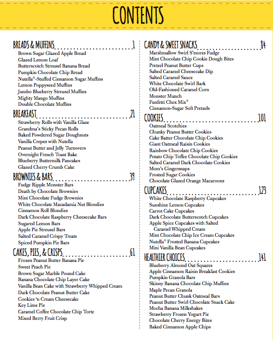 Sally's Baking Addiction Table of Contents