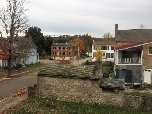 View of Sullivan House, Talbot-Hyatt House and Schofield House from second floor gallery of our 1876 fixer upper.