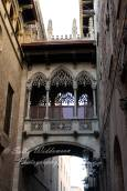 Bridge of Sighs, Carrer Bisbe, Barri Gotica, Old Town, Barcelona