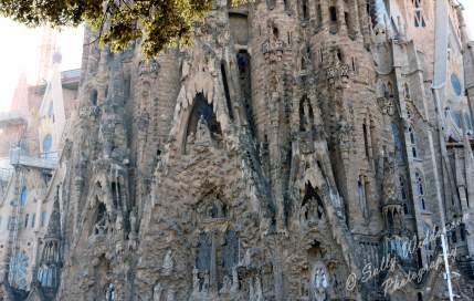 Nativity Facade sculptures on the Basilica de la Sagrada Familia, Barcelona Spain