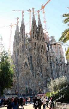 Nativity Facade Basilica de la Sagrada Familia Barcelona Spain