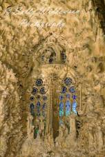 The rosary, Nativity Facade Basilica de la Sagrada Familia Barcelona Spain
