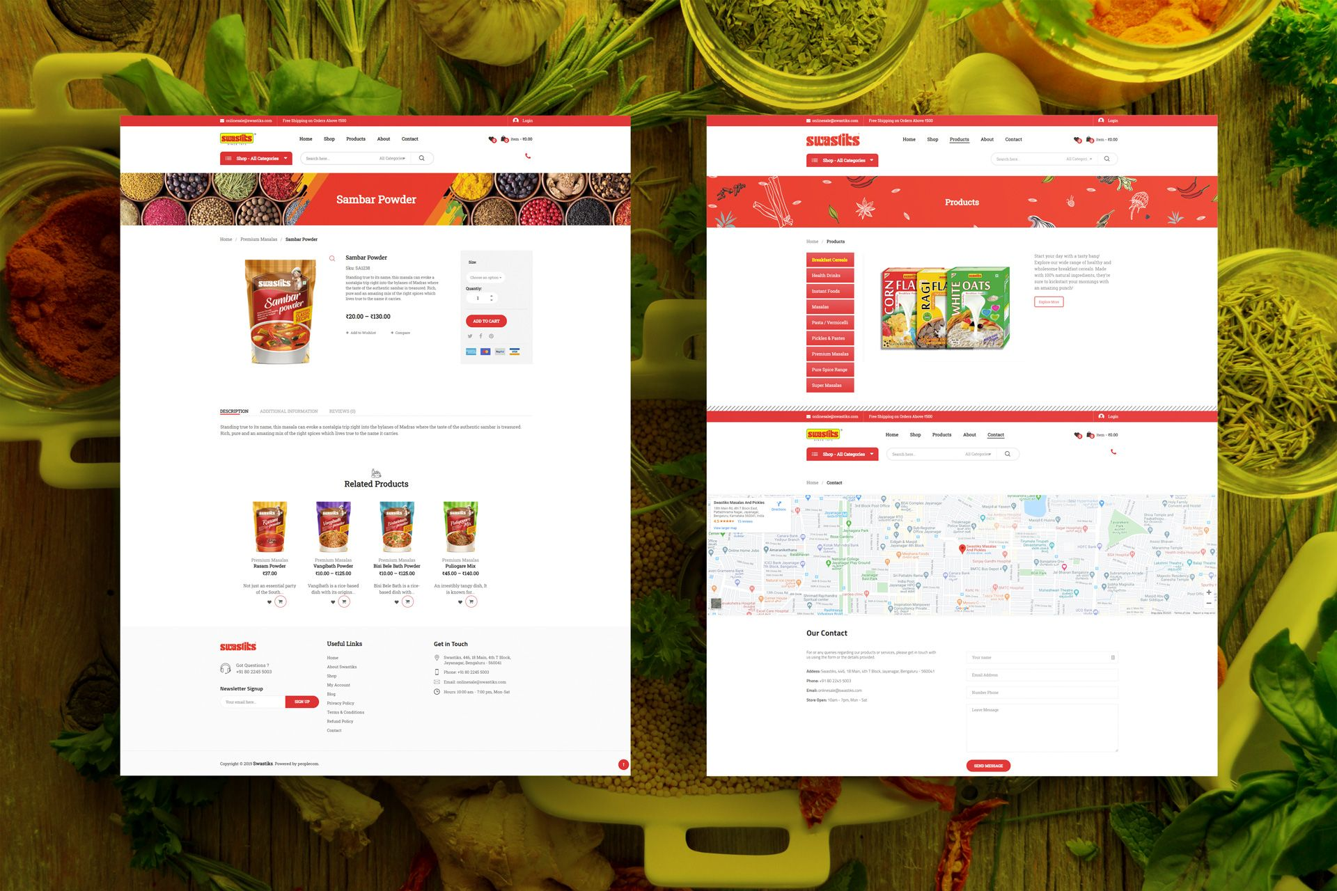 Swastiks Ecommerce Website Screens for Salman Ravoof – Product and Catalog Pages