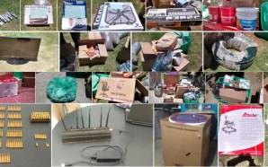 Un arsenal balístico, mercancía robada al tren y vehículos, fueron…