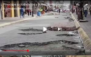 PARAN LABORES EN LA 6ta . REPARACIÓN DE CALLE JUAREZ