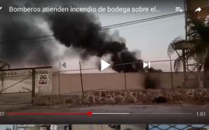 BOMBEROS ATIENDEN INCENDIO SOBRE LIBRAMIENTO SUR DE LA CIUDAD.