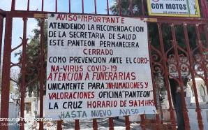 PANTEONES MUNICIPALES PERMANECEN CERRADOS POR CONTINGENCIA SANITARIA