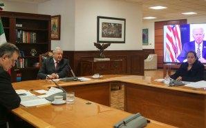 AMLO Y BIDEN HABLARON SOBRE EL CAMBIO CLIMÁTICO EN TELECONFERENCIA.