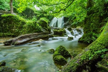 River Waterfall Janet's Foss Yorkshire Malham