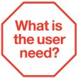 User need sticker