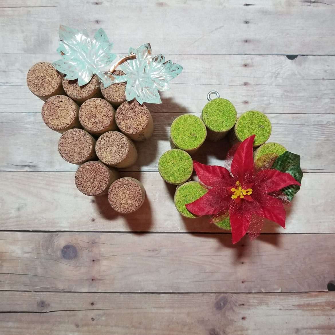 grape and wreath Wine cork ornaments