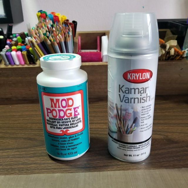 Mod Podge and Kamar Varnish