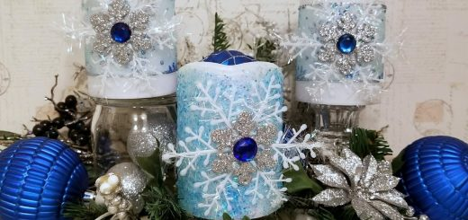 Blue Winter Candles