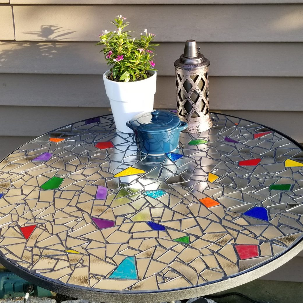 Mirrored Mosaic Table