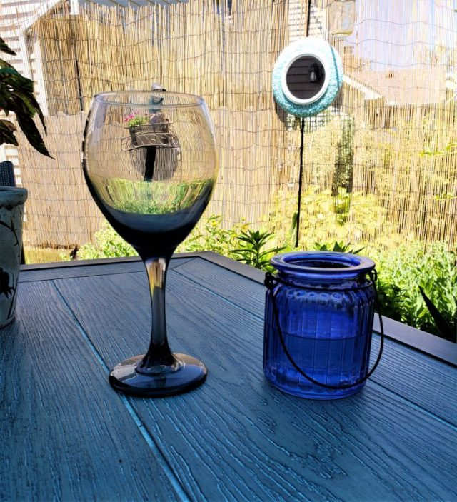 Wine glass and jar