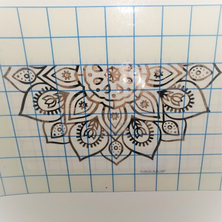 mandala on transfer tape