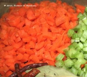 Orange in a fresh cut carrot!