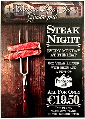 Monday Steak night at The Leap