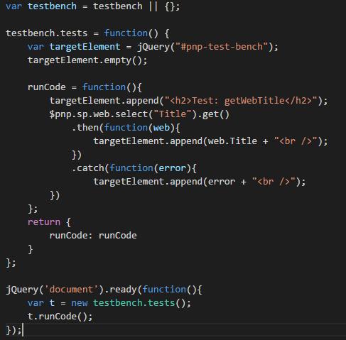 PnPJsSamples_WebTitleCode