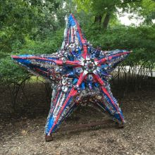 """American"" Sea Star—made from plastic resulting from July 4th celebrations"