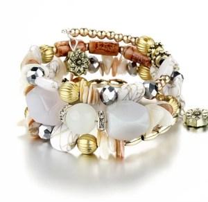 Armband bohemian wit