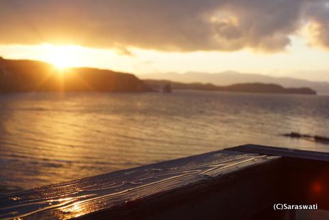 11月18日の夕陽