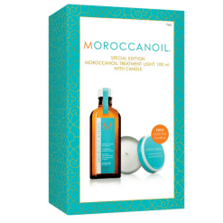 moroccanoil light 100ml with candle gift box