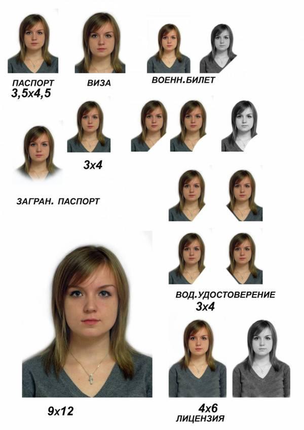 """Фото на документы - Примеры работ - """"Салончик"""" фото"""