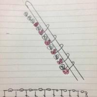 棒針を使ったかぎ針編みの作り目