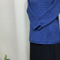 生徒作品 ドオップショルダーのセーター かぎ針編み