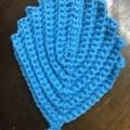 かぎ針編み葉っぱ型アクリルたわし