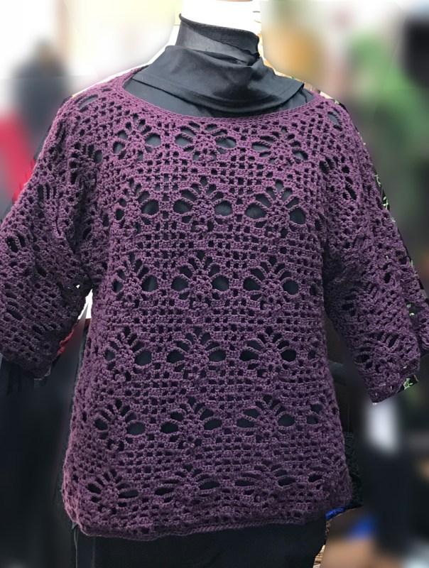 冬から春のカギ針編みセーター
