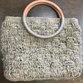 Kさん麻糸で編むバッグ1