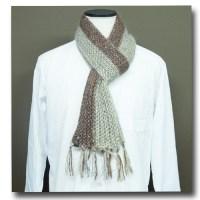 細編みで編むマフラー