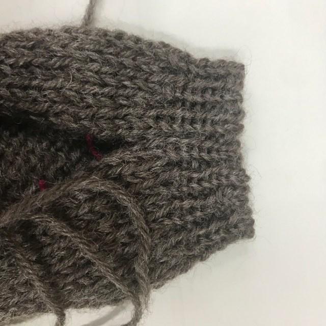 ゴム編みの接ぎ2