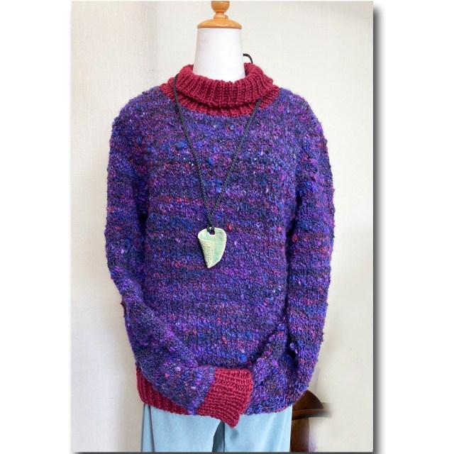 棒針編みセーター 生徒作品