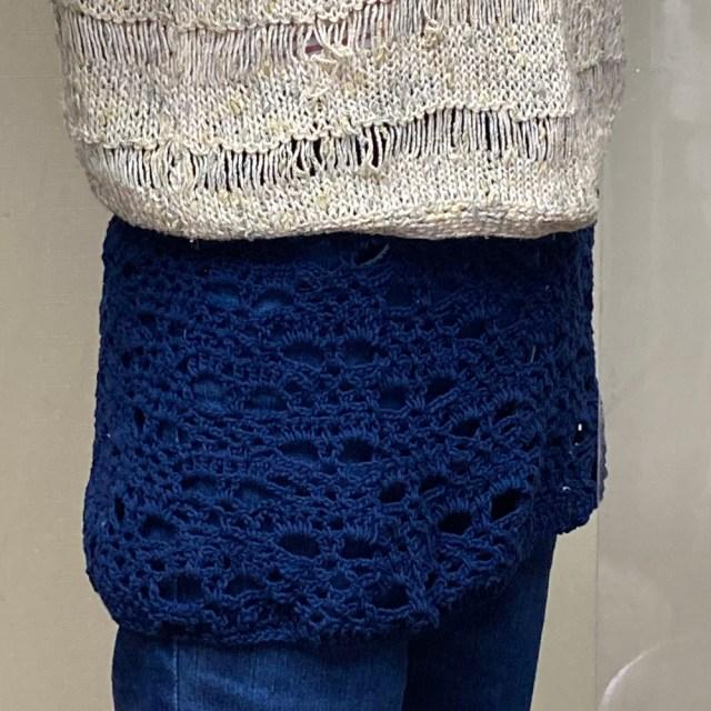 かぎ針編みオーバースカート