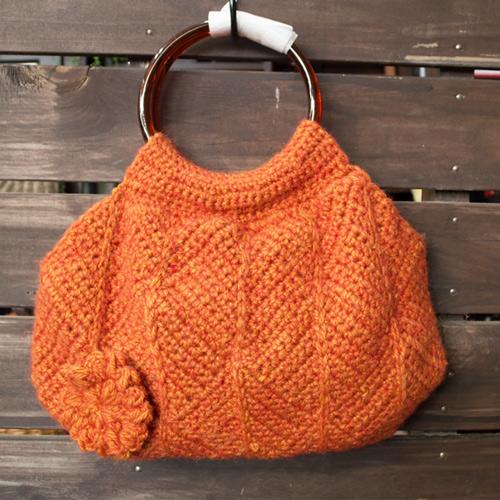 おしゃれな手編みグラニーバッグ
