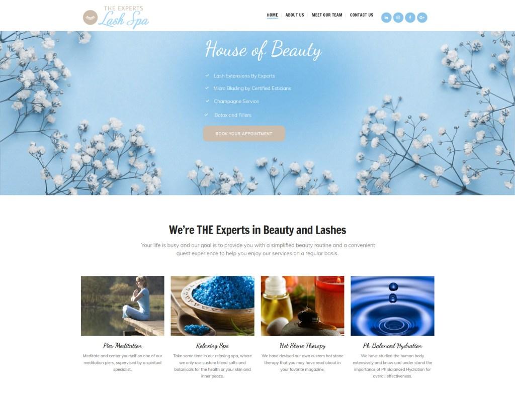 Spa Web Site Design