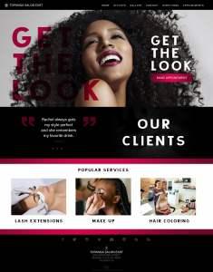 Hair Salon Web Site Design