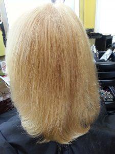 Frisurenbild Vorher-Nachher Damenhaarschnitt