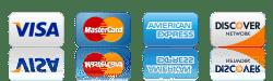 Visa, Mastercard, AMEX, Discover. Salon Visage. Spa Visage.