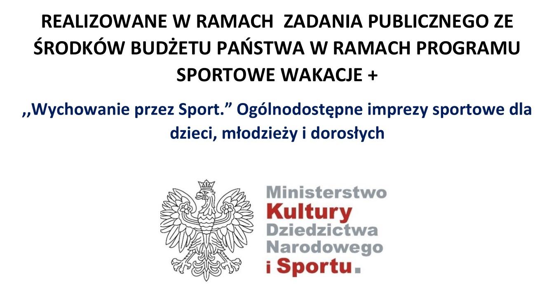 """You are currently viewing Sportowe Wakacje+. ,,Wychowanie przez Sport."""" Ogólnodostępne imprezy sportowe dla dzieci, młodzieży i dorosłych"""