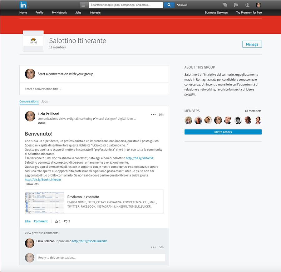 Salottino Itinerante LinkedIn